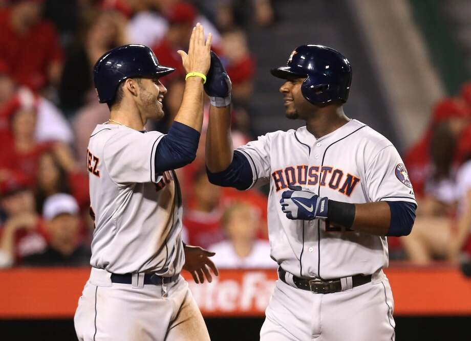 June 1: Astros 2, Angels 0A home run from Chris Carter helped the Astros prevail in a low-scoring affair and gave Houston its first four-game wining streak of the season.  Record: 19-37. Photo: Stephen Dunn, Getty Images