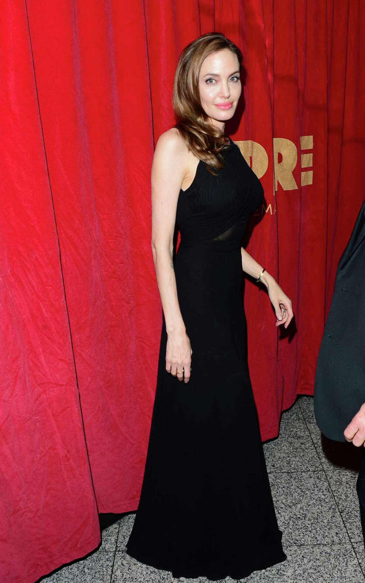 Angelina Jolie arrives at the World Premiere of 'World War Z' at the Empire Cinema in London, Sunday June 2nd, 2013.