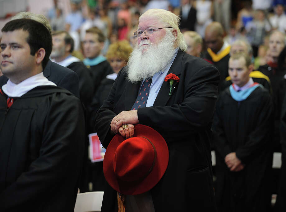 Nineteen sixty-three Fairfield Prep graduate Vincent O'Connor, of Seattle, WA, prepares to receive his golden diploma during Fairfield Prep Commencement Exercises in Fairfield, Conn. on Sunday, June 2, 2013. Photo: Brian A. Pounds / Connecticut Post