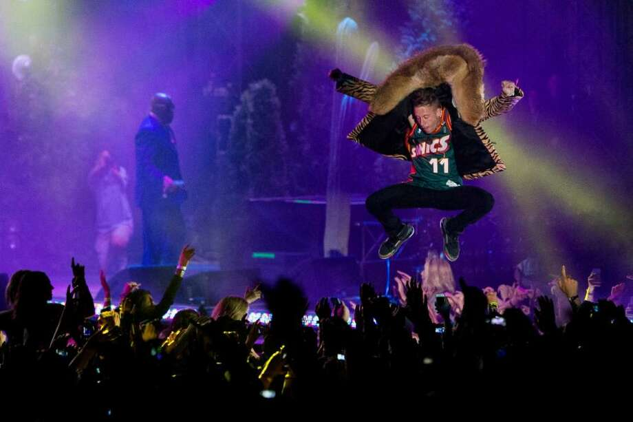 What did Macklemore do to show that he might want to stick to hip hop? Photo: Jordan Stead/seattlepi.com