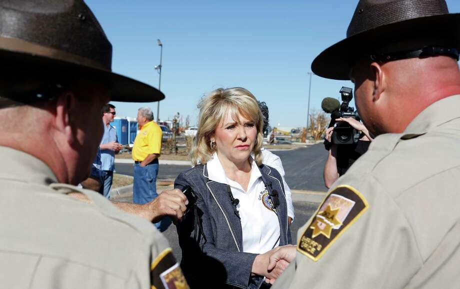 Mary Fallin, R-Okla. has served as governor of Oklahoma since January 2011. She formally launched her reelection bid on Oct. 17.Source: Associated PressSource: Politico Photo: Alonzo Adams, FRE / FR159426 AP