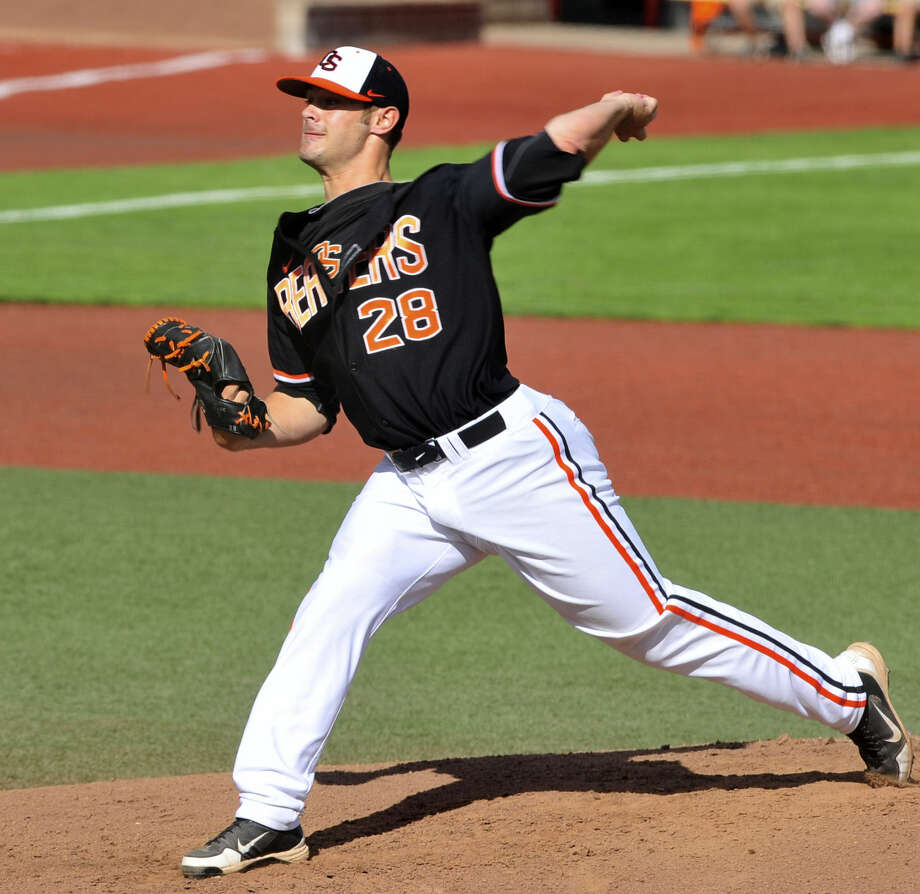 Oregon State left-hander Ben Wetzler, a first-team Pac-12 pick, limited A&M to four hits while striking out 10. Photo: Greg Wahl-Stephens / Associated Press