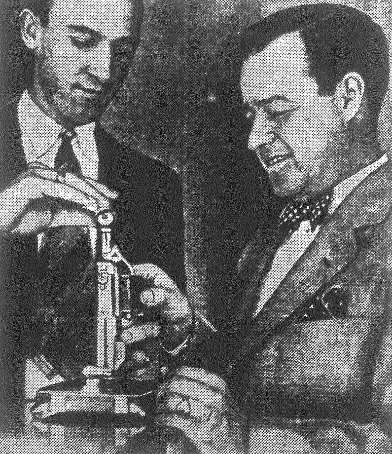 Cigarette lighter owners may now fill their pets with fluid gratis at Frank Bros. store. J. Harold Sorell is operating the gas tank to fill the automatic torch of F.E. Sewell. Published in the San Antonio Light June 2, 1928. Photo: File Photo