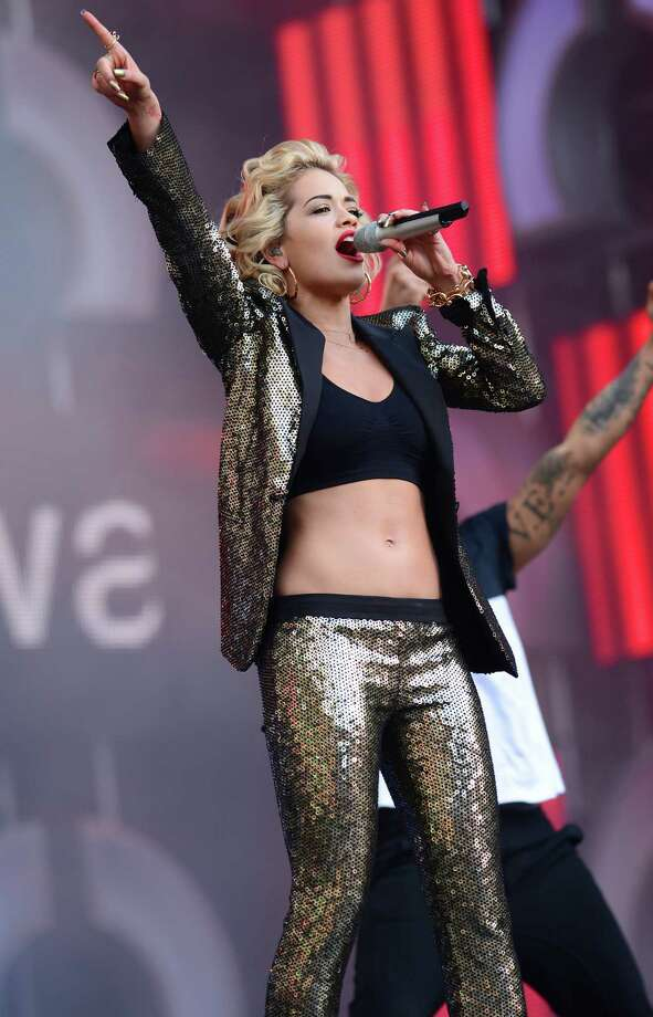 "Singer Rita Ora performs on stage at the ""Chime For Change: The Sound Of Change Live"" Concert at Twicken ham Stadium on June 1, 2013 in London, England. Chime For Change is a global campaign for girls' and women's empowerment founded by Gucci with a founding committee comprised of Gucci Creative Director Frida Giannini, Salma Hayek Pinault and Beyonce Knowles-Carter. Photo: Ian Gavan, Getty Images For Gucci / 2013 Getty Images"