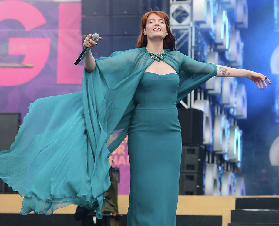 "Singer Florence Welch of Florence and the Machine performs on stage at the ""Chime For Change: The Sound Of Change Live"" Concert at Twickenham Stadium on June 1, 2013 in London, England. Chime For Change is a global campaign for girls' and women's empowerment founded by Gucci with a founding committee comprised of Gucci Creative Director Frida Giannini, Salma Hayek Pinault and Beyonce Knowles-Carter. Photo: Ian Gavan, Getty Images For Gucci / 2013 Getty Images"