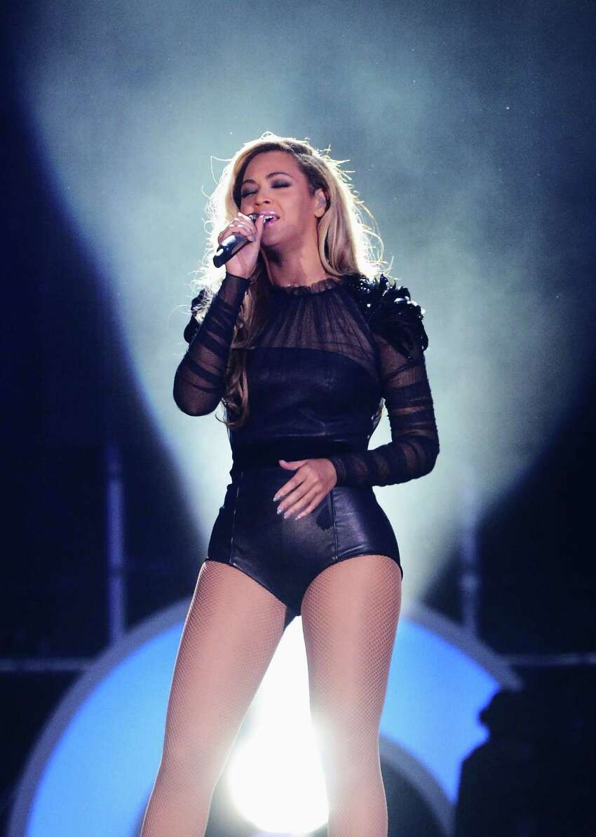 Singer Beyonce performs on stage at the