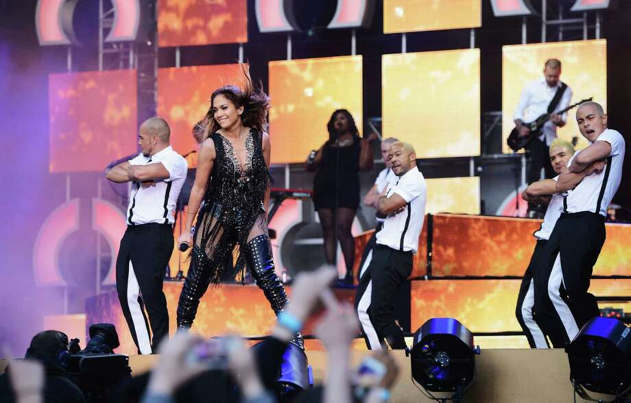 "Singer Jennifer Lopez performs on stage at the ""Chime For Change: The Sound Of Change Live"" Concert at Twickenham Stadium on June 1, 2013 in London, England. Chime For Change is a global campaign for girls' and women's empowerment founded by Gucci with a founding committee comprised of Gucci Creative Director Frida Giannini, Salma Hayek Pinault and Beyonce Knowles-Carter. Photo: Ian Gavan, Getty Images For Gucci / 2013 Getty Images"