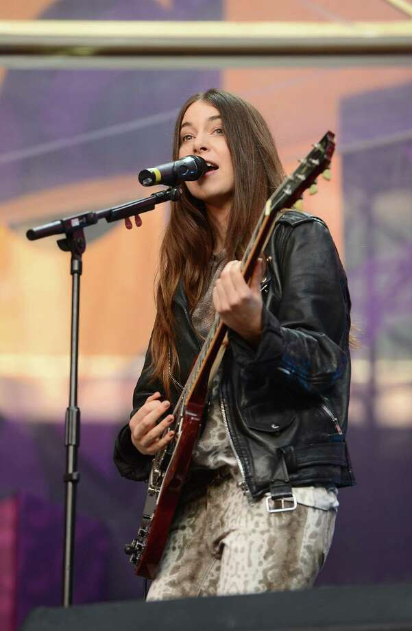 "Danielle Haim performs on stage at the ""Chime For Change: The Sound Of Change Live"" Concert at Twickenham Stadium on June 1, 2013 in London, England. Chime For Change is a global campaign for girls' and women's empowerment founded by Gucci with a founding committee comprised of Gucci Creative Director Frida Giannini, Salma Hayek Pinault and Beyonce Knowles-Carter. Photo: Ian Gavan, Getty Images For Gucci / 2013 Getty Images"