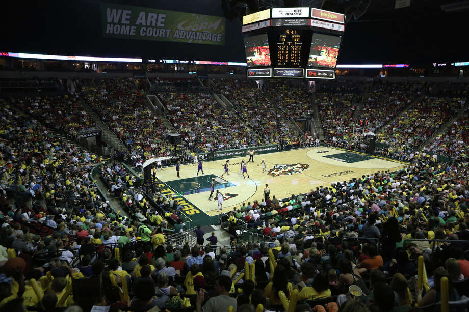 A sellout crowd fills KeyArena during the Seattle Storm home opener against the Phoenix Mercury on Sunday, June 2, 2013 at KeyArena in Seattle. Photo: JOSHUA TRUJILLO, SEATTLEPI.COM / SEATTLEPI.COM