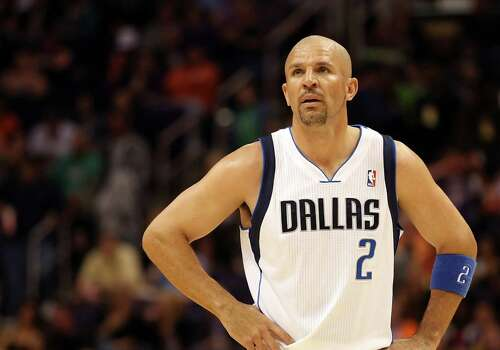 FILE - JULY 5, 2012:  According to reports July 5, 2012, Jason Kidd has decided to leave the Dallas Mavericks and sign with the New York Knicks.  PHOENIX, AZ - MARCH 08:  Jason Kidd #2 of the Dallas Mavericks in action during the NBA game against the Phoenix Suns at US Airways Center on March 8, 2012 in Phoenix, Arizona.  The Suns defeated the Mavericks 96-94.  NOTE TO USER: User expressly acknowledges and agrees that, by downloading and or using this photograph, User is consenting to the terms and conditions of the Getty Images License Agreement. Photo: Christian Petersen, Getty Images / 2012 Getty Images