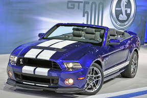 CHICAGO, IL.,--Celebrating  SVT's  20th anniversary,  Ford Motor Company launched  the  2013 Shelby GT500 Convertible at the Chicago International Auto show. This latest generation Shelby GT500  generates 650 hp and 600 lb ft of torque.  Photo by:  Sam VarnHagen/Ford Motor Co. (02/08/12)