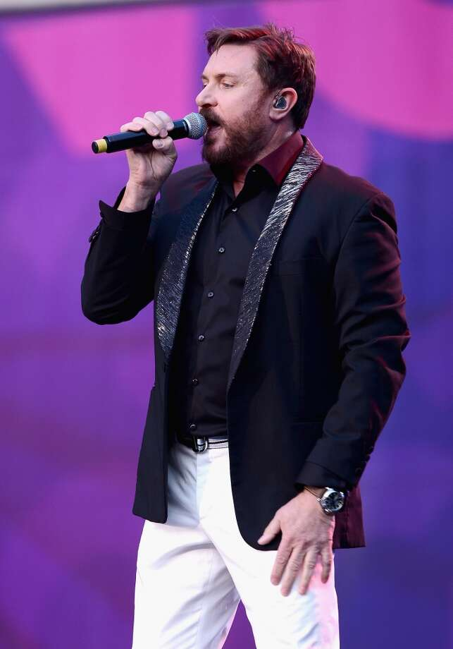 "LONDON, ENGLAND - JUNE 01:  Simon Le Bon  performs on stage at the ""Chime For Change: The Sound Of Change Live"" Concert at Twickenham Stadium on June 1, 2013 in London, England. Chime For Change is a global campaign for girls' and women's empowerment founded by Gucci with a founding committee comprised of Gucci Creative Director Frida Giannini, Salma Hayek Pinault and Beyonce Knowles-Carter.  (Photo by Ian Gavan/Getty Images for Gucci)"