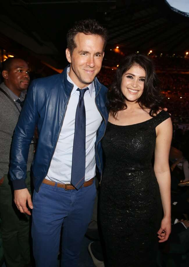 "(L-R) Ryan Reynolds and Gemma Arterton pose inside the Royal Box at the ""Chime For Change: The Sound Of Change Live"" Concert at Twickenham Stadium on June 1, 2013 in London, England. Chime For Change is a global campaign for girls' and women's empowerment founded by Gucci with a founding committee comprised of Gucci Creative Director Frida Giannini, Salma Hayek Pinault and Beyonce Knowles-Carter.  (Photo by Chris Jackson/Chime For Change/Getty Images for Gucci)"