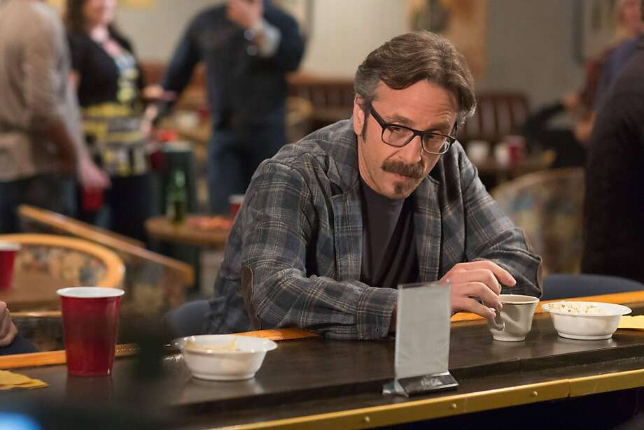 """Marc Maron stars in the IFC show """"Maron,"""" playing a version of himself -- a struggling stand-up comic who podcasts out of his garage. Photo: Chris Ragazzo, IFC/Fox"""