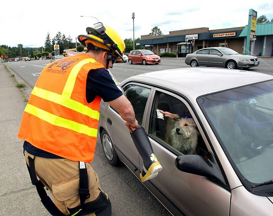 I only wish I had more Milk-Bones to give: Firefighter Mike Bishop 