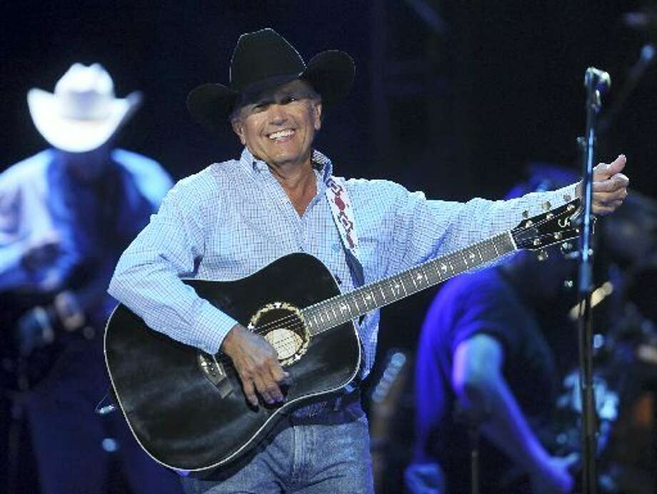 George Strait at his record-breaking concert on Saturday (Billy Calzada)