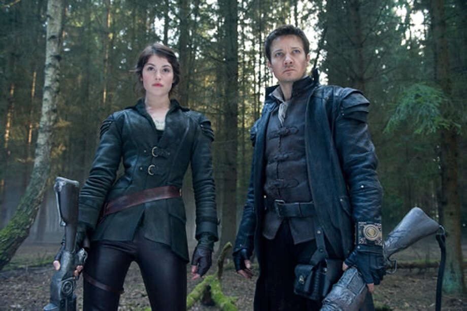 Gemma Arterton as Gretel and Jeremy Renner as Hansel.