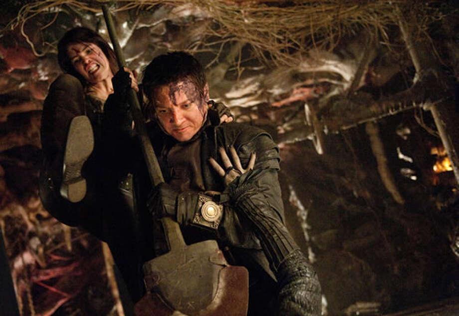 Gemma Arterton as Gretel and Jeremy Renner as Hansel.