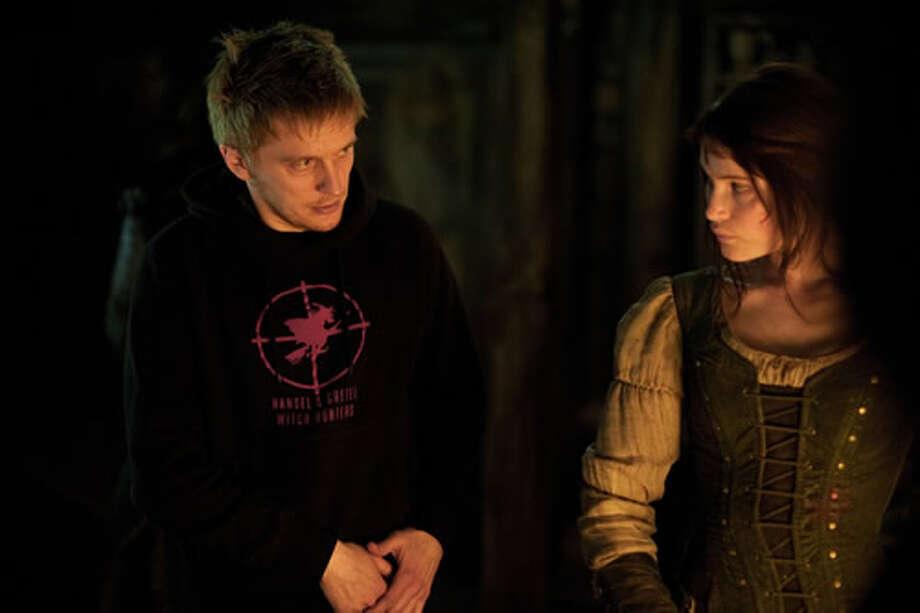 Director Tommy Wirkola with Gemma Arterton as Gretel.