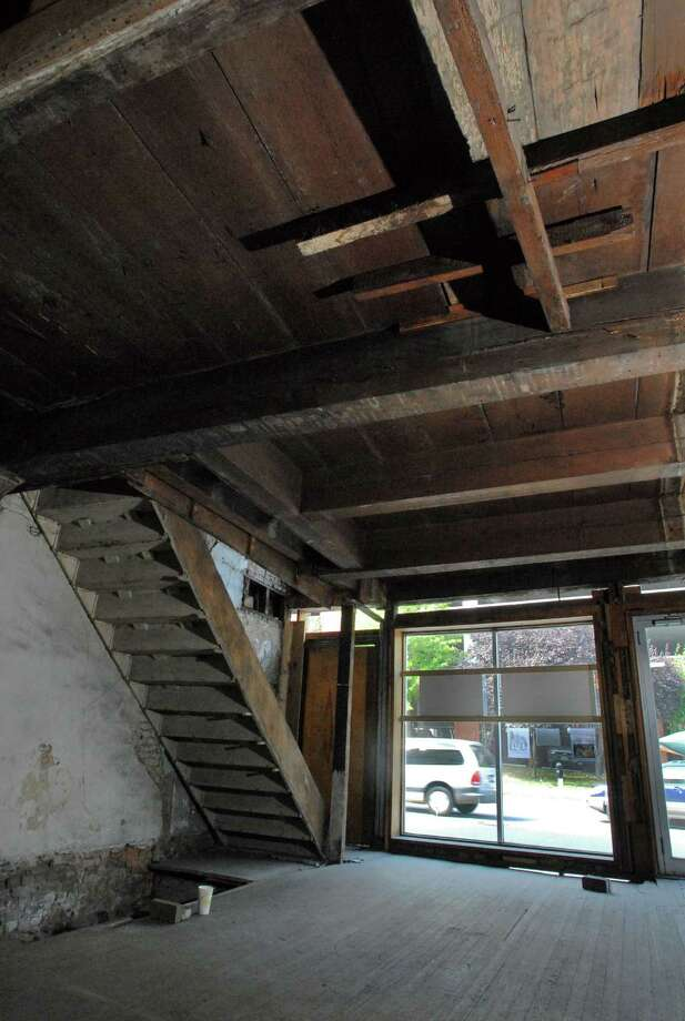 These beams on the ceiling are one of the oldest parts of 48 Hudson Ave.,  the oldest known building in the city of Albany, in 2006. (Lori Van Buren / Times Union archive) Photo: LORI VAN BUREN / ALBANY