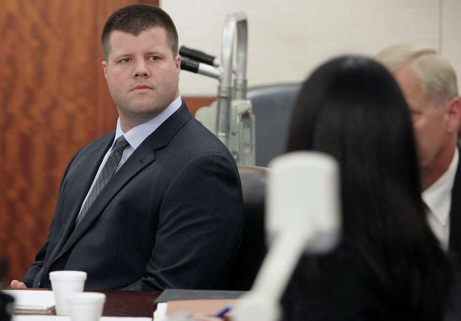 Former HPD officer Drew Ryser was called a hero by his defense team in opening statements. Photo: James Nielsen, Staff / © 2013  Houston Chronicle