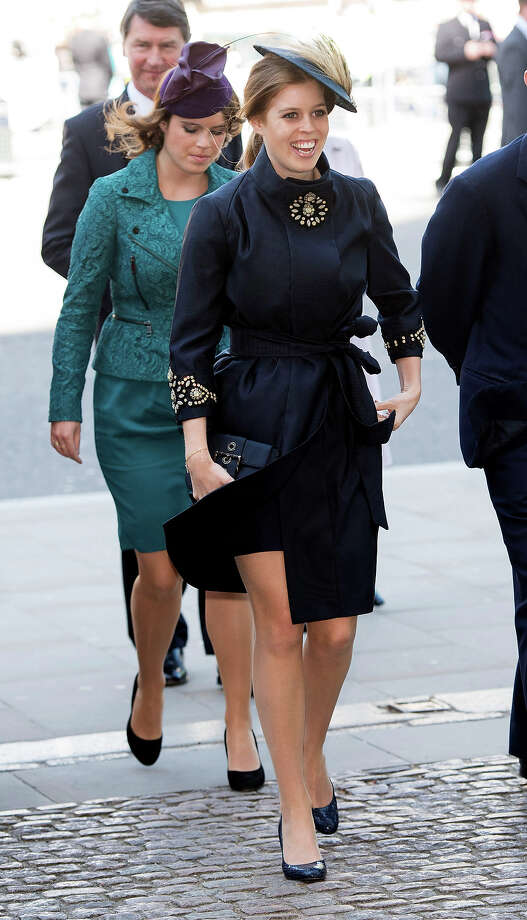 Princess Beatrice and Princess Eugenie attend a service marking the 60th anniversary of the Queen's coronation at Westminster Abbey on June 4, 2013 in London, England. Photo: Mark Cuthbert, UK Press Via Getty Images / 2013 Mark Cuthbert