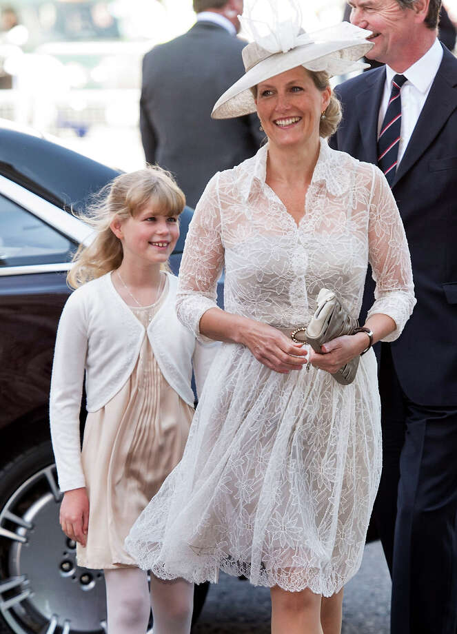 Lady Louise Windsor and Sophie Rhys-Jones, Countess of Wessex attend a service marking the 60th anniversary of the Queen's coronation at Westminster Abbey on June 4, 2013 in London, England. Photo: Mark Cuthbert, UK Press Via Getty Images / 2013 Mark Cuthbert