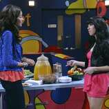 """SHAKE IT UP - """"My Fair Librarian It Up"""" - CeCe and Rocky help Miss Burke win over the heart of her crush, Mr. Zigfeld, while Logan, Ty and Deuce help Flynn build a soapbox car.  Guest starring Tyra Banks as Miss Burke, Alfonso Ribeiro as Mr. Zigfeld, Leo Howard as Logan and Carly Rae Jepsen as herself. Alfonso Ribeiro directs this episode of """"Shake It Up"""" airing on SUNDAY, FEBRUARY 24 9:00 PM - 9:30 PM ET/PT), on Disney Channel. (DISNEY CHANNEL/ERIC MCCANDLESS) ZENDAYA, CARLY RAE JEPSEN"""