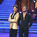 """DANCING WITH THE STARS - """"Episode 1604"""" - The competition continued as the 10 remaining celebrities celebrated """"The Best Year of Their Life"""" through dance, MONDAY, APRIL 8 (8:00-10:01 p.m., ET). Each couple danced to a song of the celebrities' choosing that represents a memorable time or experience in their life. In addition, each celebrity was challenged to perform a brief solo during their performance.  (ABC/Adam Taylor) ZENDAYA, VAL CHMERKOVSKIY"""