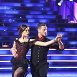 """DANCING WITH THE STARS - """"Episode 1605"""" - Nine remaining couples hit the dance floor and faced an exciting new challenge MONDAY, APRIL 15 (8:00-10:01 p.m., ET). In another first for """"Dancing with the Stars,"""" a new twist called """"Len's Side By Side Challenge"""" tasked each couple to perform a portion of their individual dance alongside a pro dance couple.  (ABC/Adam Taylor) ZENDAYA, VAL CHMERKOVSKIY"""