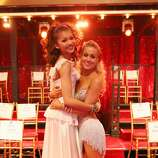 """DANCING WITH THE STARS - """"Episode 1607"""" - It was Latin Night on """"Dancing with the Stars,"""" as seven remaining couples took to the ballroom floor and performed to a Latin-inspired hit, MONDAY, APRIL 29 (8:00-10:01 p.m., ET), on ABC.  (ABC/Adam Taylor) ZENDAYA, KELLIE PICKLER"""