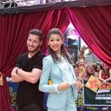 """GOOD MORNING AMERICA - The winners of """"Dancing With the Stars,"""" are guests on """"Good Morning America,"""" 5/22/13, airing on the ABC Television Network.  (ABC/Fred Lee) VAL CHMERKOVSKIY, ZENDAYA COLEMAN"""