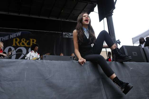Disney Channel star Zendaya performs at the Art & Soul Oakland festival on Sunday, Aug. 5, 2012, in Oakland, Calif. (Photo by Alison Yin/Invision/AP)