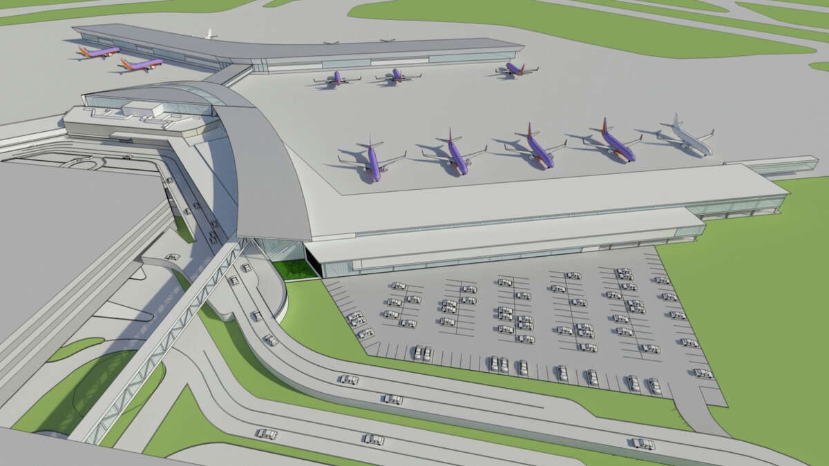 Renderings were released for the new international terminal at Hobby Airport, June 4, 2013.