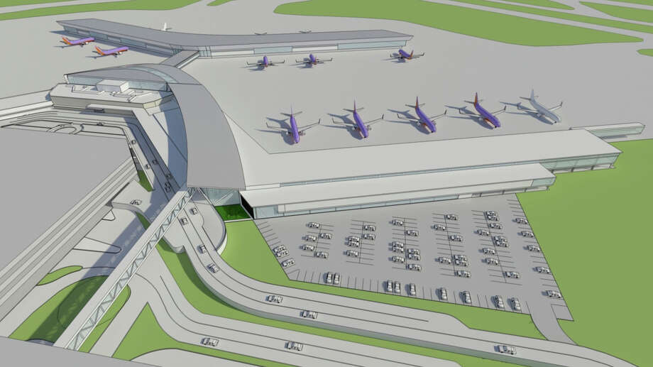 Renderings were released for the new international terminal at Hobby Airport, June 4, 2013. Photo: ChadW, Hobby Airport