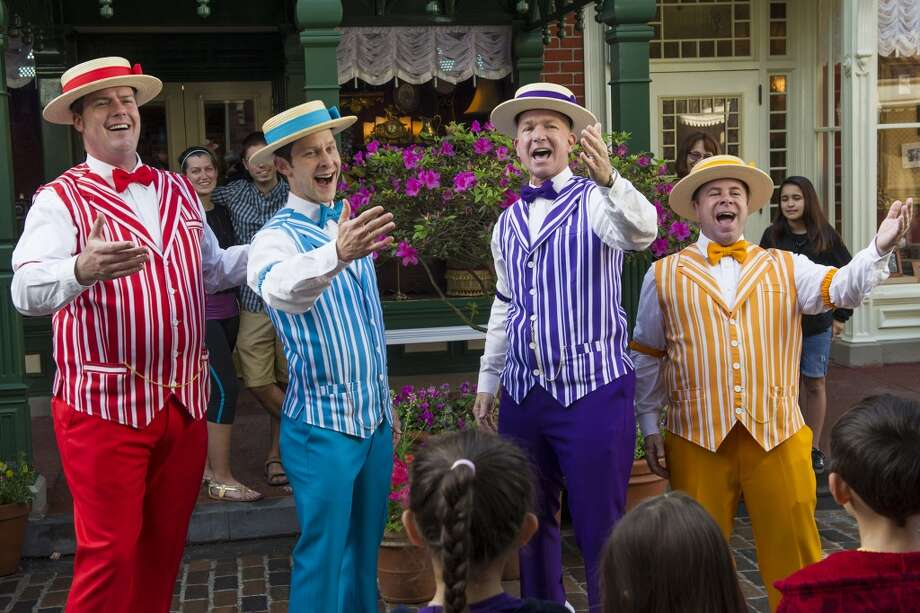 The Dapper Dans: This charming barbershop quartet has been performing on Disneyland's Main Street since 1959. The turn-of-the-century-inspired boy band performs about seven times a day and pulls from a repertoire of folk, ragtime, jazz, swing, Disney tunes and Broadway songs. Photo: Gene Duncan, Gene Duncan / Disney