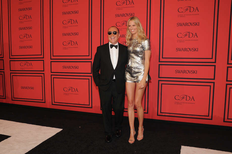 Designer Michael Kors (L) and Model Karolina Kurkova attend 2013 CFDA Fashion Awards at Alice Tully Hall on June 3, 2013 in New York City. Photo: Bryan Bedder, Getty Images For Swarovski / 2013 Getty Images