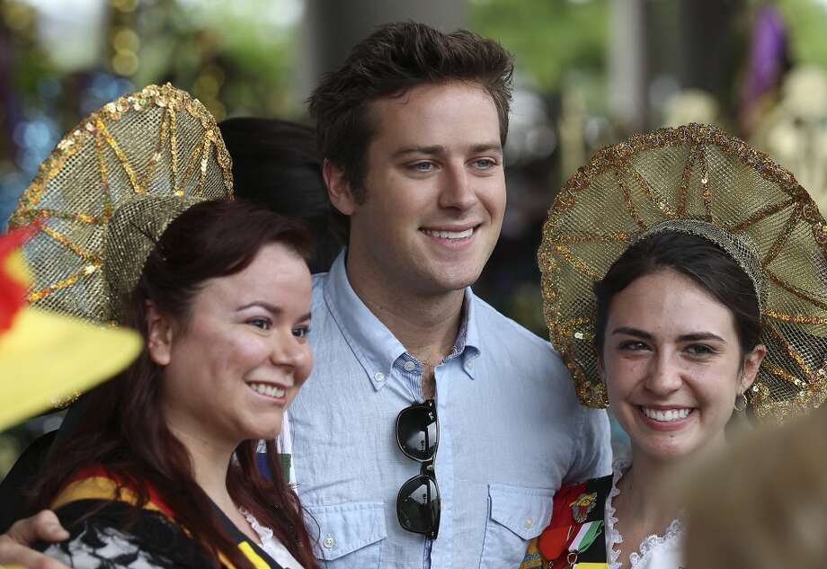 """""""Lone Ranger"""" and """"The Social Network"""" star Armie Hammer, who was a Battle of Flowers Grand Marshal, and his wife own and operate Bird Bakery in Alamo Heights. Photo: Kin Man Hui, San Antonio Express-News"""