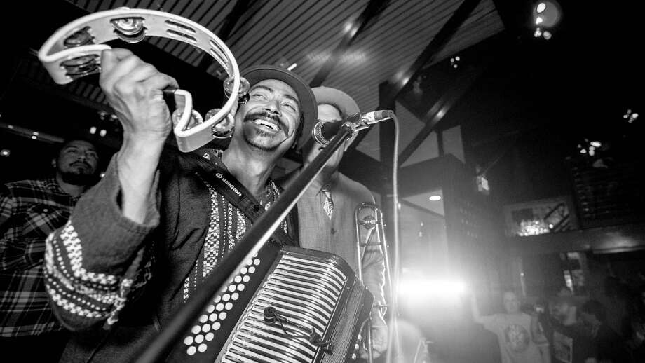 Nicolas Valdez performs with Los Nahuatlatos at the Worm Tequila & Mezcal Bar. The 32-year-old musician and Chicano activist is moving back to Los Angeles in a few months. Photo: Courtesy Dave Terry