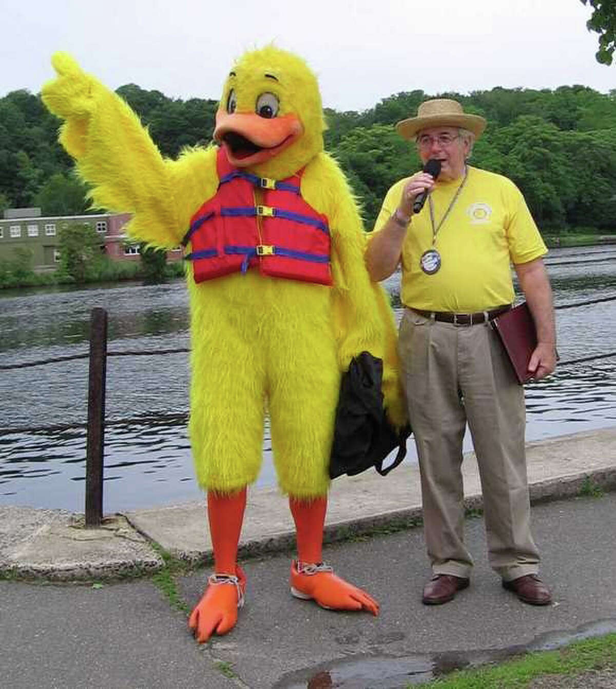 Bob Lasprogato, Republican registrar of voters and a former selectman, emcees a recent Sunrise Rotary