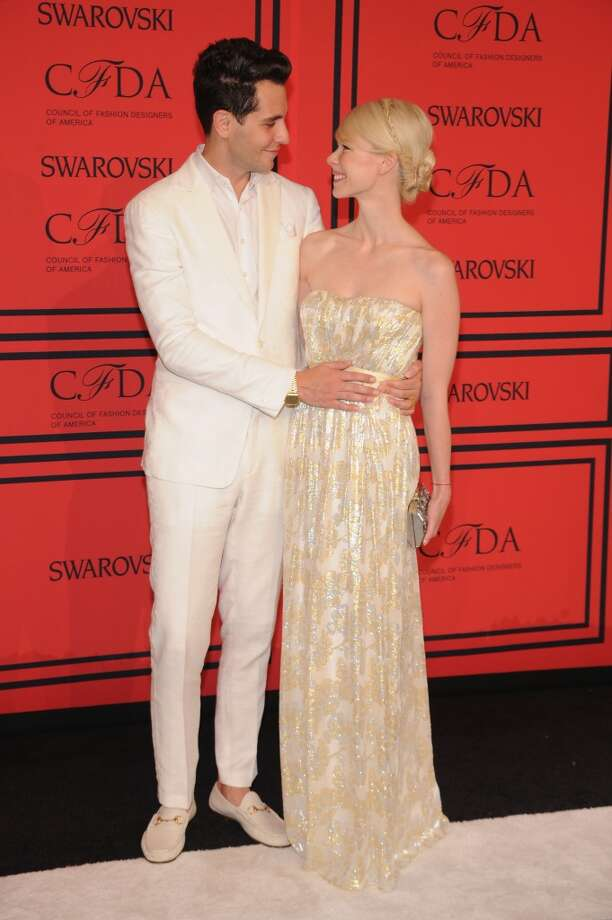 NEW YORK, NY - JUNE 03:  Gabe Saporta and Erin Fetherston attend 2013 CFDA FASHION AWARDS Underwritten By Swarovski - Red Carpet Arrivals at Lincoln Center on June 3, 2013 in New York City.  (Photo by Bryan Bedder/Getty Images for Swarovski)