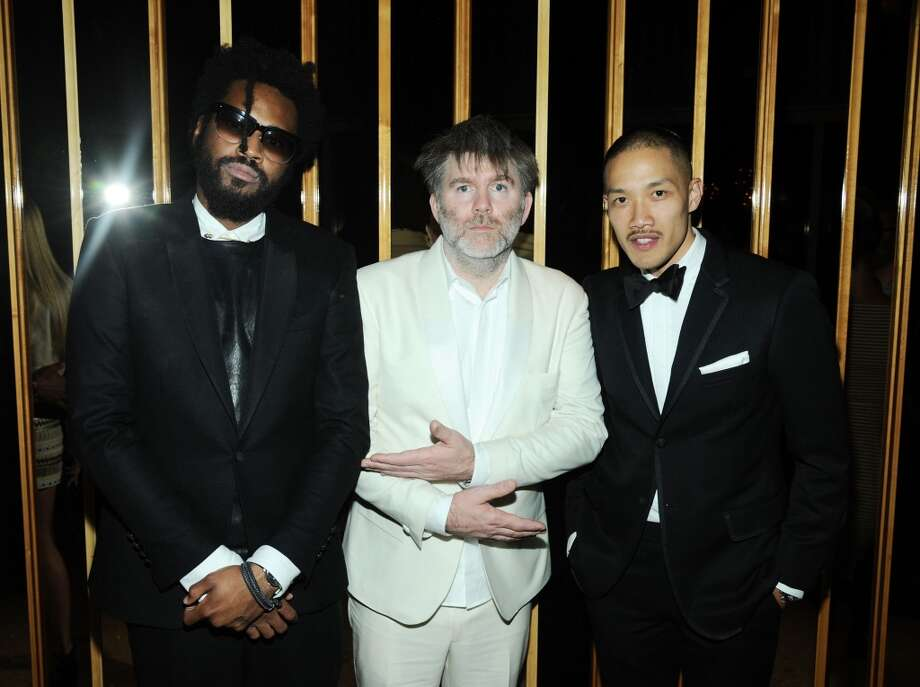 NEW YORK, NY - JUNE 03: (L-R) Maxwell Osborne, James Murphy and Dao-yi Chow attend the 2013 CFDA Fashion Awards Official After Party Hosted By Swarovski on June 3, 2013 in New York, United States.  (Photo by Ilya S. Savenok/Getty Images)