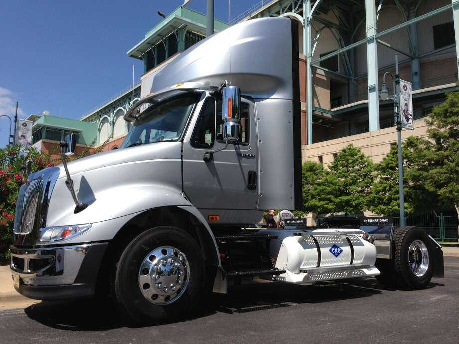Ryder showed off its natural gas-fueled trucks at Minute Maid stadium on Tuesday, June 4, 2013. Photo: Zain Shauk, Houston Chronicle