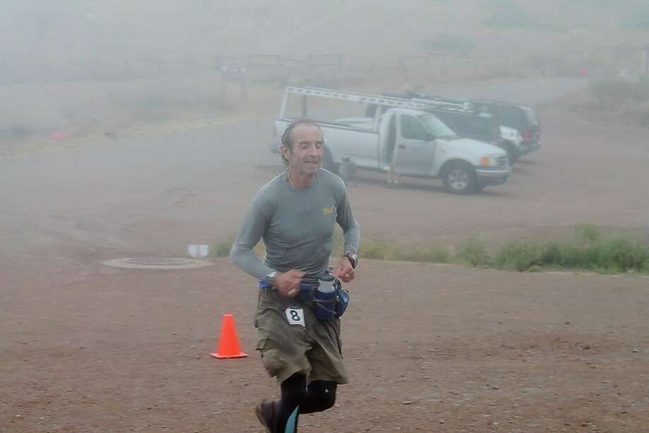 Rene Brunet, 63, finishing a 50-mile race in Marin in 2012. Photo: Courtesy, Allen Lucas
