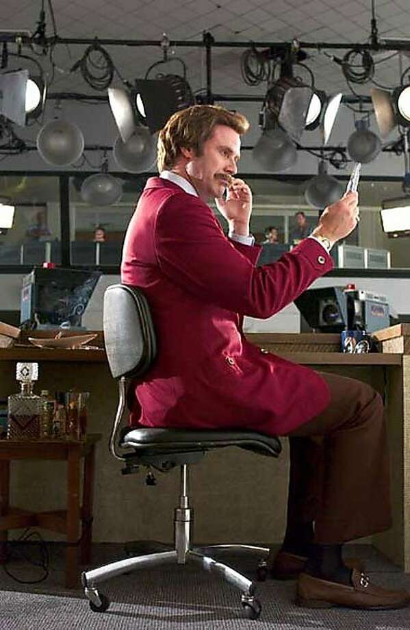 Still of Ron Burgundy (Will Ferrell) from Dreamworks' Anchorman: The Legend of Ron Burgundy.  Ran on: 12-31-2004 Will Ferrell portrays a vain doofus of a TV news anchor in &quo;Anchorman: The Legend of Will Burgundy.&quo; Photo: Handout