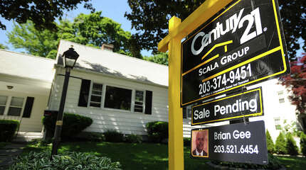 A home with sale pending at 3870 Old Town Road in Bridgeport on Tuesday, June 4, 2013.