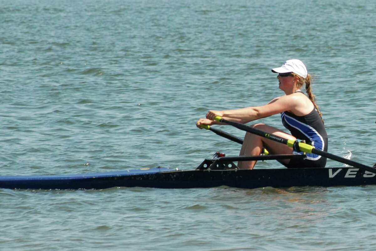 Greenwich Crew's Melissa Curtis, above, will row in two events at the 2013 USRowing Youth National Championships (June 7-9) in Oak Ridge, Tenn., solo and 4X.
