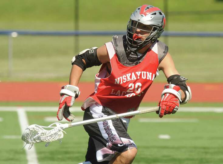 Midfielder Tyler Pantalone during the Niskayuna boys' lacrosse team practice on Tuesday June 4, 2013