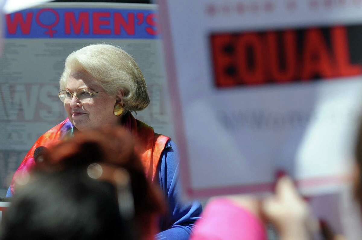 Sarah Weddington, attorney for Roe v. Wade, is one of the speakers during a rally in support of the Women's Equality Agenda on Tuesday, June 4, 2013, at West Capitol Park in Albany, N.Y. (Cindy Schultz / Times Union)