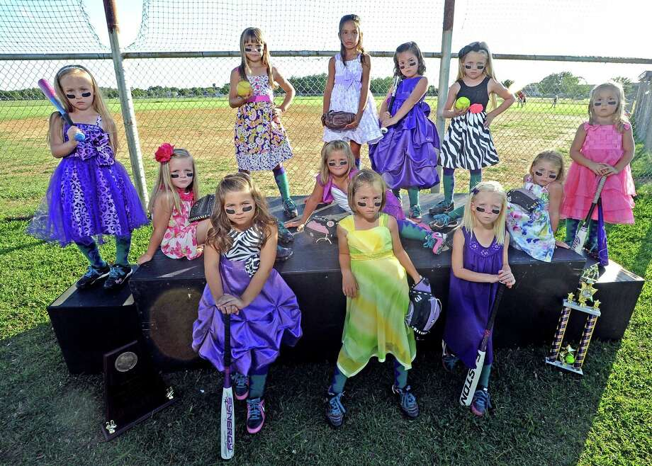 Introducing the twelve PNGSL 6U All-Star Team members who call themselves the Indian Nation.  This group of 6-year-old softball players won the district championship and took second in state this past week.  The girls will be traveling to Texas City for nationals this weekend. Photo taken: Randy Edwards/The Enterprise
